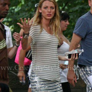 Joie Silk Agacia Striped Blouse Gossip Girl